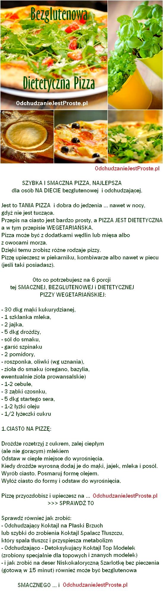dietetyczna pizza bezglutenowa dla tych co się odchudzają